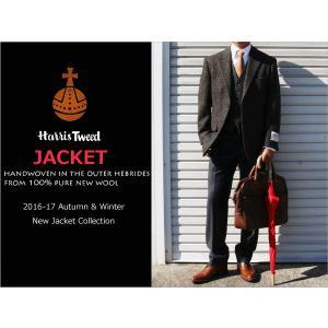2016-17秋冬モデル 新品 英国 ハリスツイード Harris Tweed イエローブラウン杢チェック小柄 2ボタン ジャケット (A/AB/BB体) NT01-2B j2w|decte