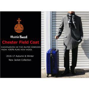 2016-17 秋冬モデル 新品 英国 Harris Tweed ハリスツイード 白黒ブロックチェック中柄 チェスターフィールドコート|decte