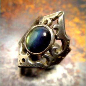 指輪 リング レディース シルバーアクセサリー ハンドメイド 透かし兜スペクトロライト|dedo