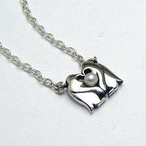 パール 真珠 ネックレス ペンダント ペア メンズ レディース ペンギン 動物 シルバー ジュエリー ハンドメイド 宝物|dedo