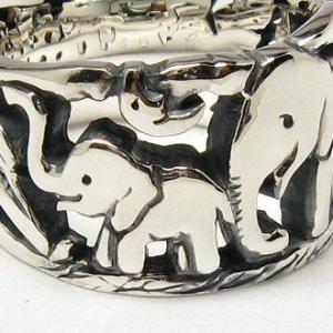 指輪 リング ペア メンズ 刻印 象 ゾウ 動物 月 シルバー ジュエリー ハンドメイド 昨日見た夢|dedo