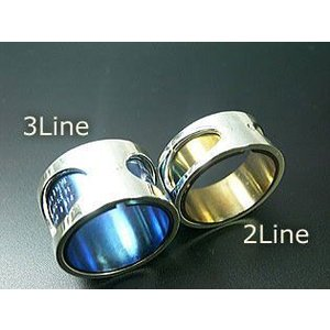 指輪 リング メンズ レディース シルバー チタン アクセサリー ハンドメイド アクセサリー 刻印 Stream 3Line dedo 03