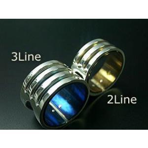 指輪 リング メンズ レディース シルバー チタン アクセサリー ハンドメイド アクセサリー 刻印 Stream 3Line dedo 04