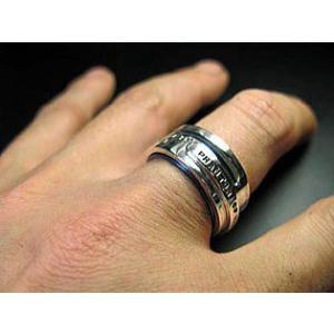 指輪 リング メンズ レディース シルバー チタン アクセサリー ハンドメイド アクセサリー 刻印 Glitter|dedo|05