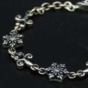 ブレスレット メンズ レディース 結晶 雪の結晶 シルバー ハンドメイド Mサイズ snow shadow|dedo