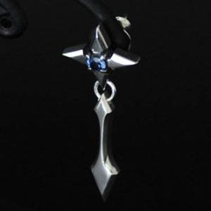 ピアス メンズ レディース クロス 十字架 シルバー ハンドメイド icicle cross|dedo