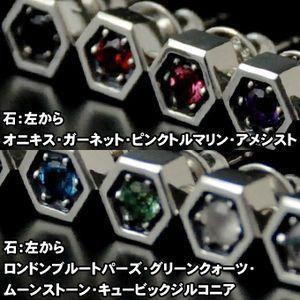 ピアス メンズ レディース シルバー ハンドメイド hexagonal prism|dedo