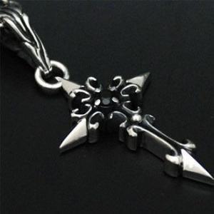 ペンダント ネックレス メンズ レディース クロス 十字架 シルバー ハンドメイド thistle cross|dedo|03