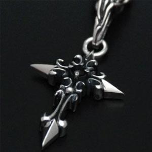 ペンダント ネックレス メンズ レディース クロス 十字架 シルバー ハンドメイド thistle cross|dedo|04