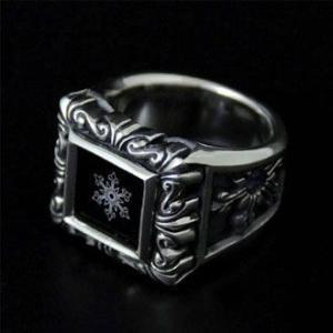 指輪 リング メンズ 結晶 雪の結晶 シルバー ハンドメイド snowflake of sculputure|dedo