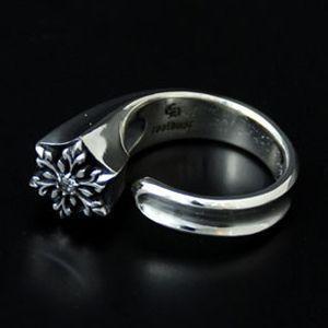 指輪 リング レディース 結晶 雪の結晶 シルバー ハンドメイド snow free|dedo