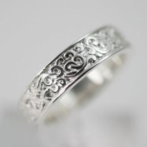 指輪 リング 和柄 唐草 メンズ レディース シルバー ハンドメイド HOJU(宝珠)|dedo