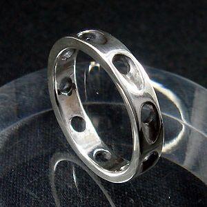 指輪 リング メンズ レディース シルバー シンプル ハンドメイド SLASH HOLE(スラッシュホール) dedo