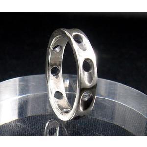 指輪 リング メンズ レディース シルバー シンプル ハンドメイド SLASH HOLE(スラッシュホール) dedo 02