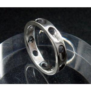 指輪 リング メンズ レディース シルバー シンプル ハンドメイド SLASH HOLE(スラッシュホール) dedo 03