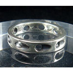 指輪 リング メンズ レディース シルバー シンプル ハンドメイド SLASH HOLE(スラッシュホール) dedo 04