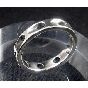 指輪 リング メンズ レディース シルバー シンプル ハンドメイド SLASH HOLE(スラッシュホール) dedo 05