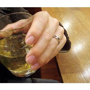 指輪 リング メンズ レディース シルバー シンプル ハンドメイド SLASH HOLE(スラッシュホール) dedo 06