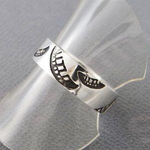 指輪 リング スマイル 笑顔 レディース メンズ シルバー ハンドメイド smile stamp_S|dedo