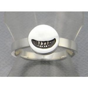 指輪 リング メンズ レディース シルバー スマイル 笑顔 アクセサリー ハンドメイド アクセサリー smile stamp2_S|dedo