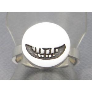 指輪 リング メンズ レディース シルバー スマイル 笑顔 アクセサリー ハンドメイド アクセサリー smile stamp2_L|dedo