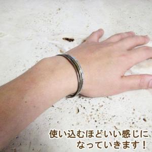 バングル シルバー 真鍮 3連バングル メンズ レディース スリム 細い ハンドメイド ブラス beneet bangle #3 silver|dedo|03
