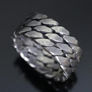 指輪 リング シンプル シルバー ハンドメイド アクセサリー メンズ ツイストトリプル1カラー 銀|dedo