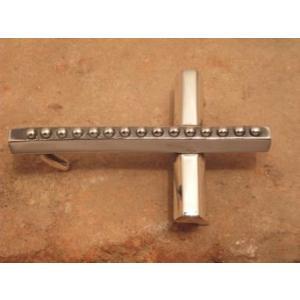 ベルト バックル クロス レザー 革 メンズ シルバー ハンドメイド スターリングシルバー Cross|dedo