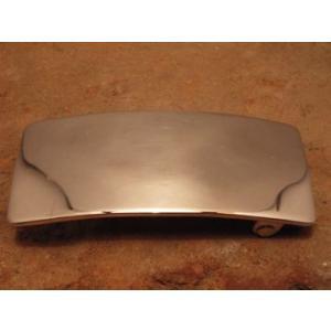 ベルト バックル レザー 革 メンズ シルバー ハンドメイド スターリングシルバー Plain3x7|dedo