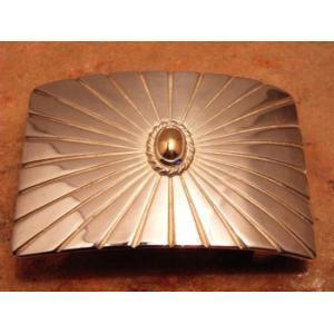 ベルト バックル レザー 革 メンズ シルバー ハンドメイド スターリングシルバー Sun|dedo