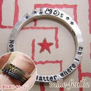 指輪 リング ウサギ 兎 星 レディース 刻印 シルバー ハンドメイド アクセサリー mille-feuille exlostchild dedo