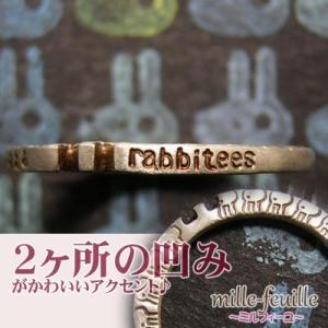 ウサギ うさぎ 兎 指輪 リング レディース 刻印 シルバー アクセサリー ハンドメイド mille-feuille rabbitees 兎虫増量 dedo