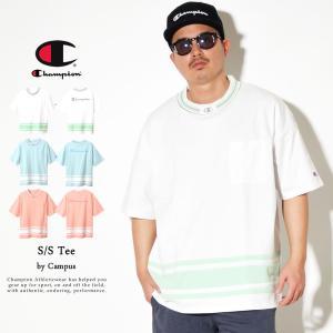 チャンピオン Champion ビッグシルエット ポケットTシャツ メンズ 半袖 キャンパス Tシャ...