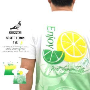ステイプル×スプライト (STAPLE×SPRITE) コラボ Tシャツ メンズ 半袖 スプライトレモンTシャツ (2001C5818)|deep
