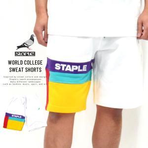 ステイプル (STAPLE) スウェットハーフパンツ メンズ ワールドカレッジスウェットショーツ (2001B5800)|deep