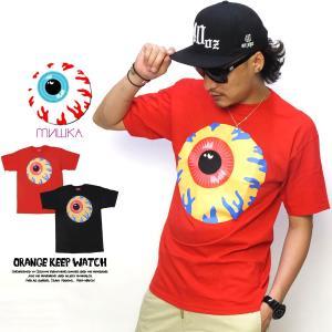 ミシカ MISHKA Tシャツ メンズ ORANGE KEEP WATCH EX151177
