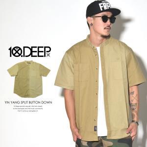 10DEEP テンディープ バンドカラーシャツ カジュアルシ...