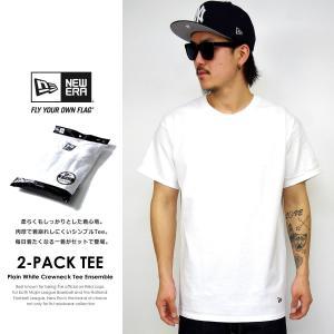 ニューエラ Tシャツ メンズ トップス インナー 半袖 無地 2枚組 NEW ERA パックTシャツ 2-Pack Tee 白 ホワイト deep