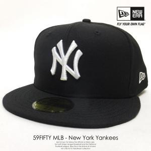 ニューエラ NEW ERA ベースボールキャップ 59FIFTY ニューヨーク・ヤンキース 黒 ブラック×ホワイト