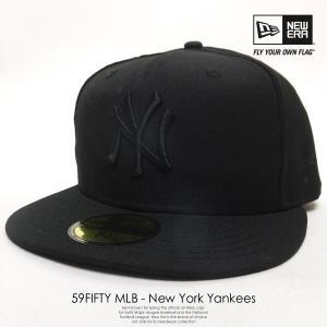 ニューエラ NEW ERA ベースボールキャップ 59FIFTY ヤンキース 黒 ブラック×ブラック 黒