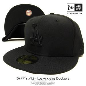 ニューエラ NEW ERA ベースボールキャップ 59FIFTY MLBカスタム ロサンゼルス・ドジャース 黒 ブラック×ブラック