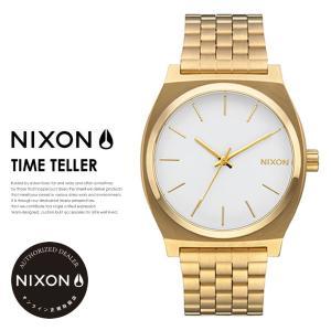ニクソン 腕時計 メンズ レディース メーカー正規保証2年 NIXON タイムテラー ゴールド/ホワ...