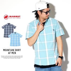 マムート ボタンダウン チェックシャツ メンズ 半袖 吸汗速乾 抗菌防臭 MAMMUT MOUNTAIN SHIRT AF MEN 1015-00430 deep