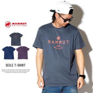 マムート Tシャツ メンズ MAMMUT SEILE T-SHIRT 1017-00970 deep