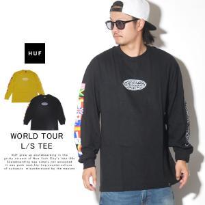 HUF ハフ ロンT 長袖Tシャツ メンズ WORLD TOUR L/S TEE TS00785 秋冬 新作|deep