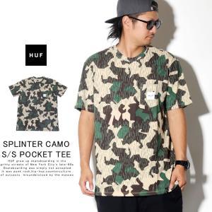 HUF ハフ Tシャツ メンズ SPLINTER CAMO S/S POCKET TEE 秋冬 新作|deep