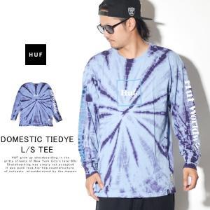 HUF ハフ ロンT 長袖Tシャツ メンズ DOMESTIC TIEDYE L/S TEE TS00870 秋冬 新作|deep