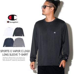 チャンピオン ロンT 長袖Tシャツ メンズ Champion Cロゴ スポーツロングスリーブTシャツ...