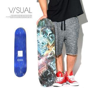 V/SUAL ヴィジュアル スケートボード デッキ 8×32インチ VISUAL スクエアタイムズデ...