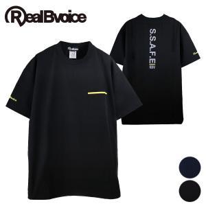【RealBvoice】LINE STRETCH SIDE ZIP T-SHIRT/サイドジップストレッチTシャツ deepblue-ocean